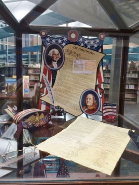 The Constitution display at the Bartlesville Public Library during the moth of September, 2014