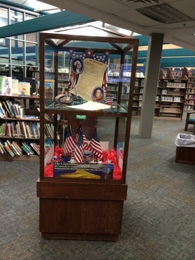 The Constitution display at the Bartlesville Public Library during the moth of September, 2014.
